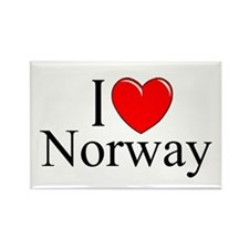 """""""I Love Norway"""" Rectangle Magnet"""