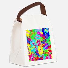 Trendy Superhero Comic Bubble Spe Canvas Lunch Bag