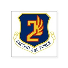 "2nd Air Force Square Sticker 3"" x 3"""