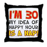 30th birthday gag Throw Pillows
