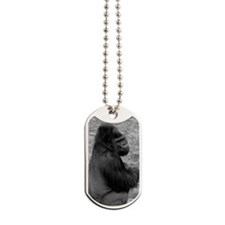 (13) Male Gorilla On Rock Dog Tags