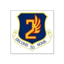 "2nd Air Force - Secong To N Square Sticker 3"" x 3"""
