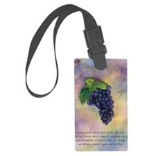Pinot Noir Red Wine Grapes Art Luggage Tag