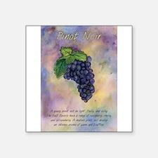 Pinot Noir Red Wine Grapes Art Sticker