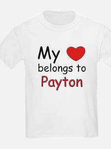 My heart belongs to payton Kids T-Shirt