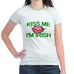 Kiss Me I'm Irish Jr. Ringer T-Shirt