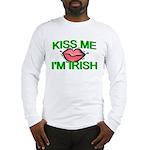 Kiss Me I'm Irish Long Sleeve T-Shirt