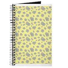 Gold Cheetah Print Journal