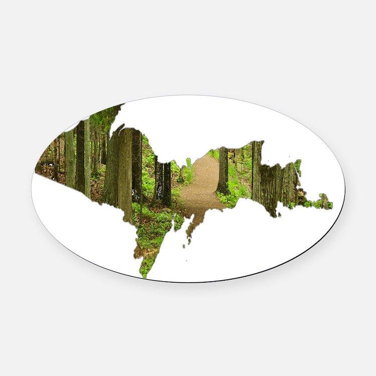 Forest_Path_Sugar_Loaf_001.gif Oval Car Magnet