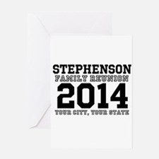 Custom Family Reunion Bold Varsity Text Greeting C