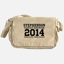 Custom Family Reunion Bold Varsity Text Messenger
