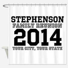 Custom Family Reunion Bold Varsity Text Shower Cur