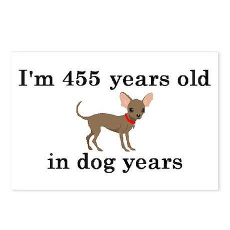 65 birthday dog years chihuahua 2 Postcards (Packa