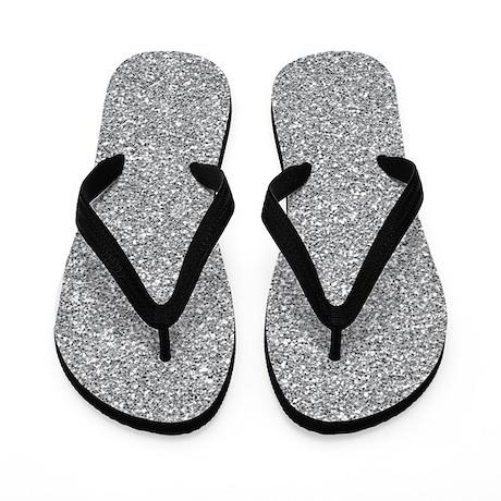 silver glitter flip flops by superpatterns. Black Bedroom Furniture Sets. Home Design Ideas