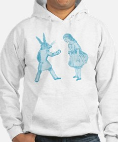 Alice and the White Rabbit Hoodie