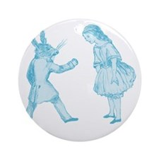 Alice and the White Rabbit Round Ornament