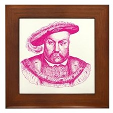 Pink Henry the Eighth VIII Framed Tile