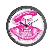 Pink Henry the Eighth VIII Wall Clock