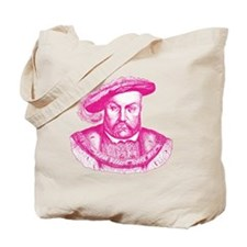 Pink Henry the Eighth VIII Tote Bag