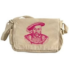 Pink Henry the Eighth VIII Messenger Bag