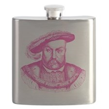 Pink Henry the Eighth VIII Flask
