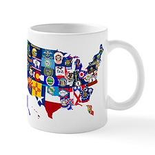 USA State Flags Map Mugs
