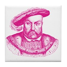 Pink Henry the Eighth VIII Tile Coaster