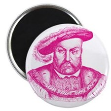 Pink Henry the Eighth VIII Magnet