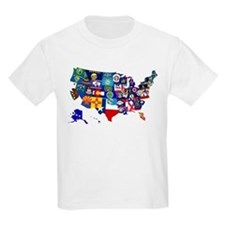 USA State Flags Map T-Shirt