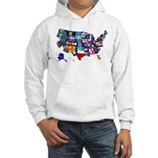 USA State Flags Map Hoodie