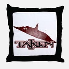 Taken by a UFO in Red Throw Pillow