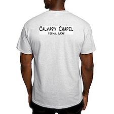 """Calvary Chapel F/W"" Ash Grey T-Shirt"