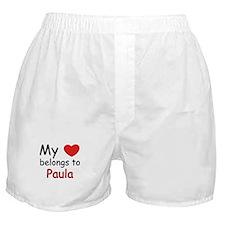 My heart belongs to paula Boxer Shorts