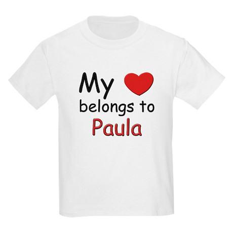 My heart belongs to paula Kids T-Shirt