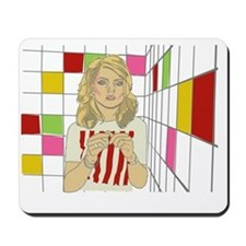 Debbie with coloured blocks Mousepad