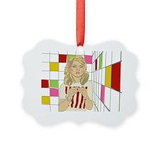 Debbie with coloured blocks Ornament