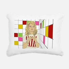 Debbie with coloured blo Rectangular Canvas Pillow
