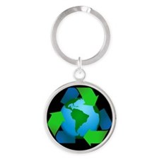High Quality RECYCLE Keychain