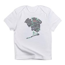 Queens New York Map Typography Infant T-Shirt