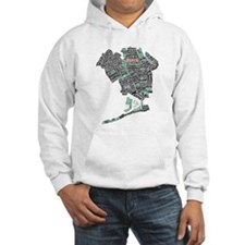 Queens New York Map Typography Hoodie