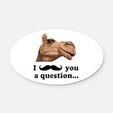 Funny Camel Oval Car Magnet