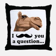 Funny Camel Throw Pillow