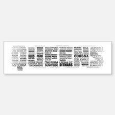Queens New York Typography Bumper Bumper Bumper Sticker
