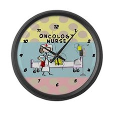 Oncology Nurse 2 Large Wall Clock