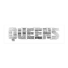 Queens New York Typography Wall Decal