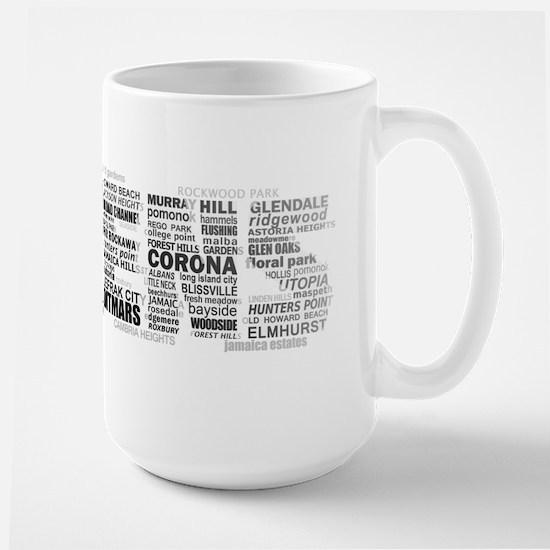 Queens New York Typography Mugs
