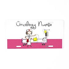 Oncology Nurse 3 Aluminum License Plate