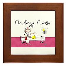 Oncology Nurse 3 Framed Tile