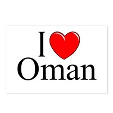 """I Love Oman"" Postcards (Package of 8)"