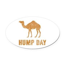 Vintage Hump Day Oval Car Magnet